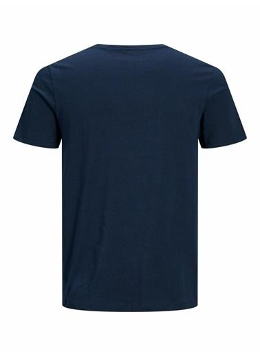Jack & Jones Jack&Jones Erkek Baskılı T Shirt 12191971 Renkli